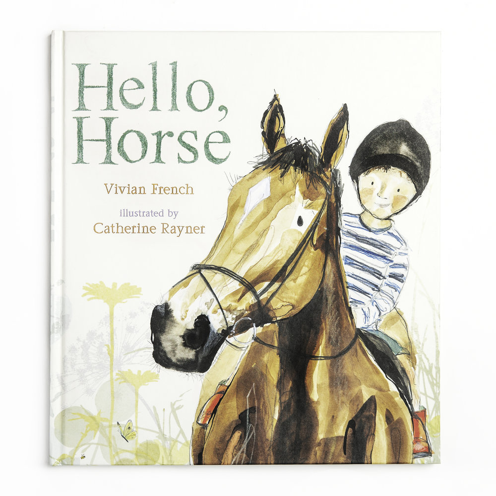 The front cover of 'Hello, Horse'