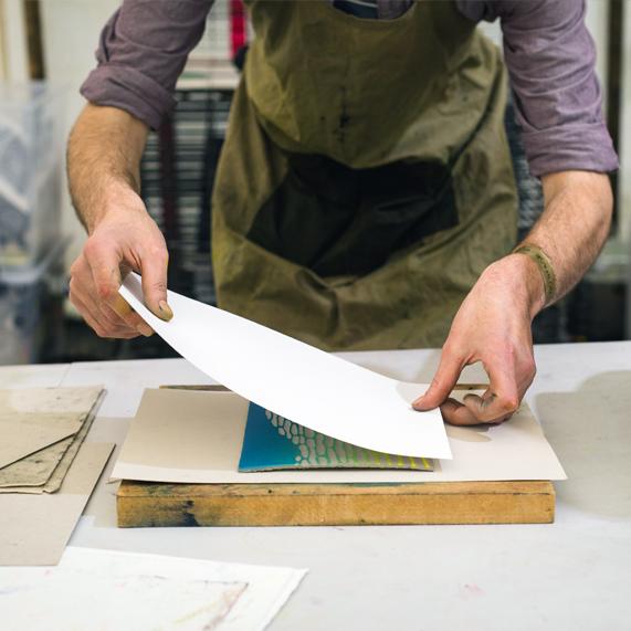 Lino Printing. -