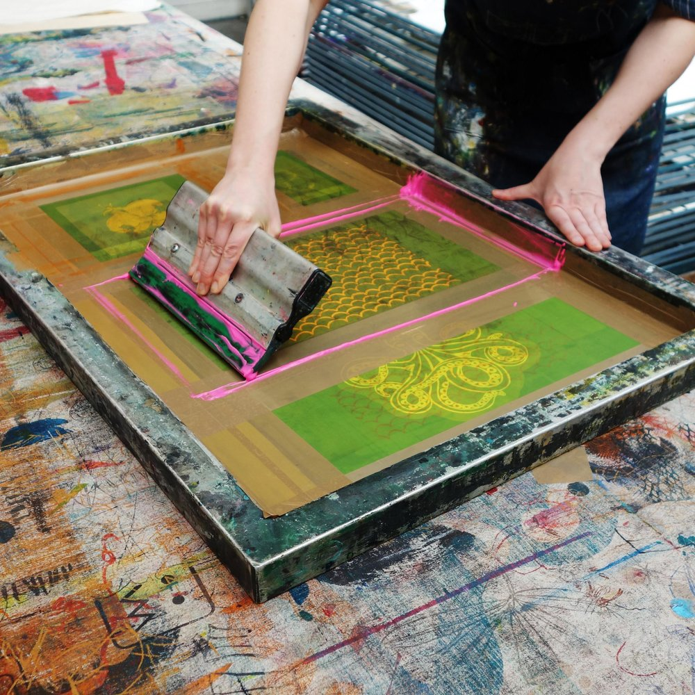 Screen Print on Textile. -