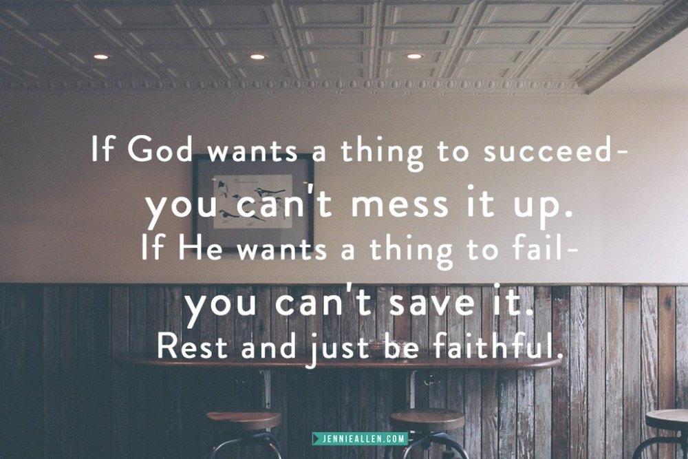 Rest and Be Faithful JA