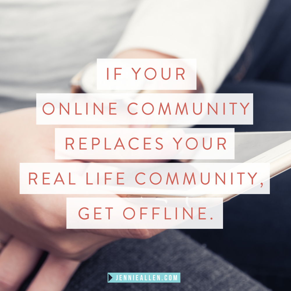 Why the Internet is Keeping You from the Best Parts of Life // Read more on www.jennieallen.com