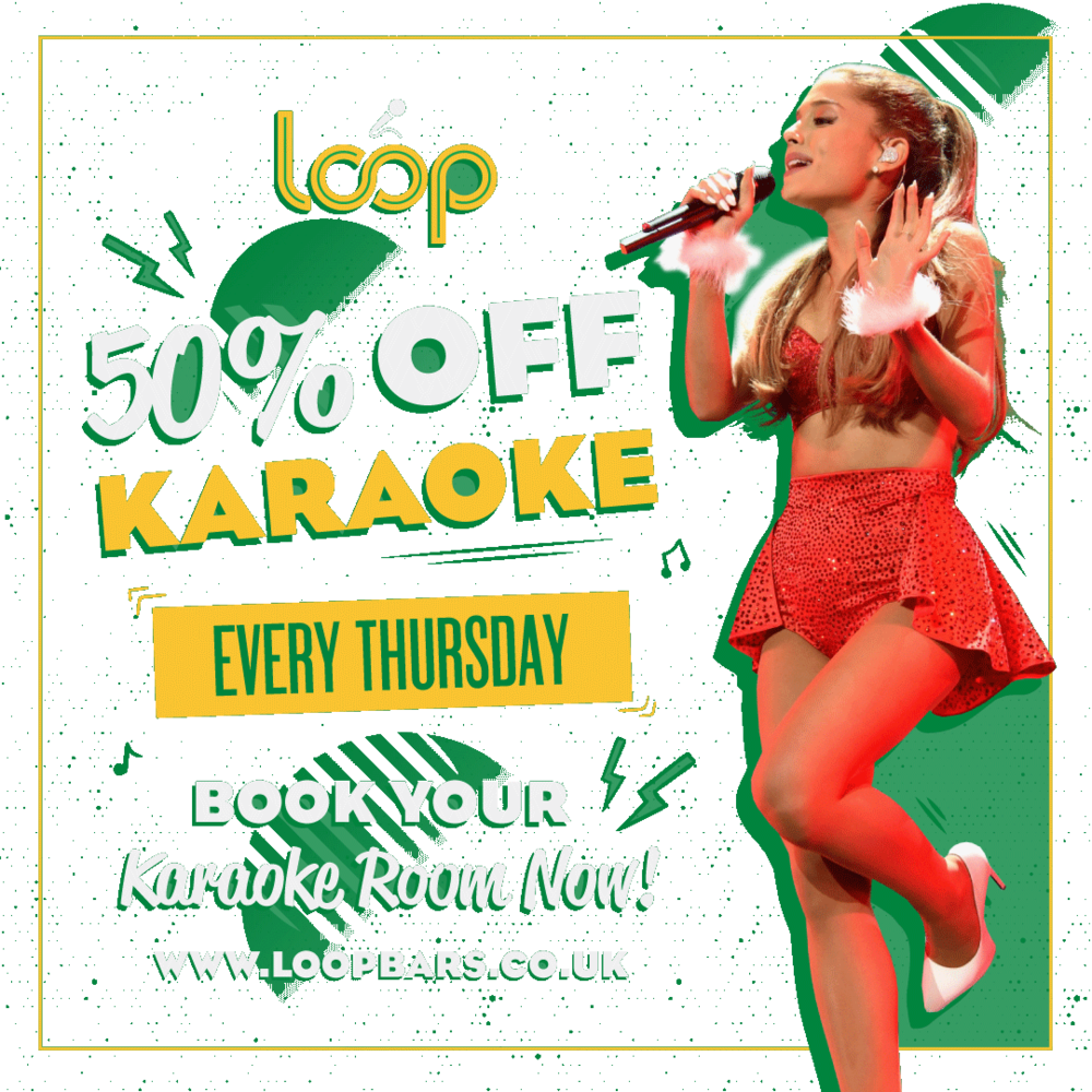 want a midweek treat? - 50% off karaoke on thursdays…thats £6 per person for two hours of karaoke heaven… or hell, depends on who you are singing with