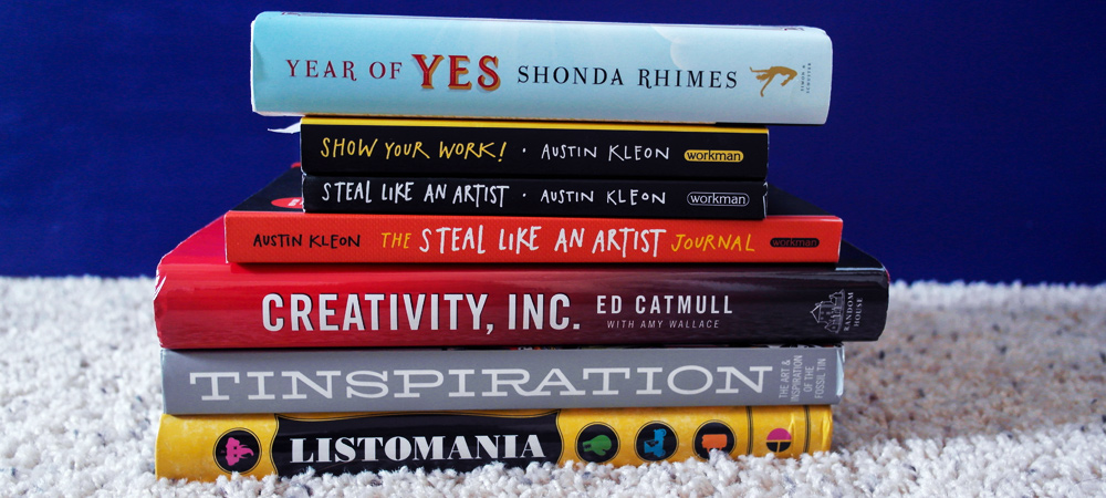 Books about creativity and books that inspire me