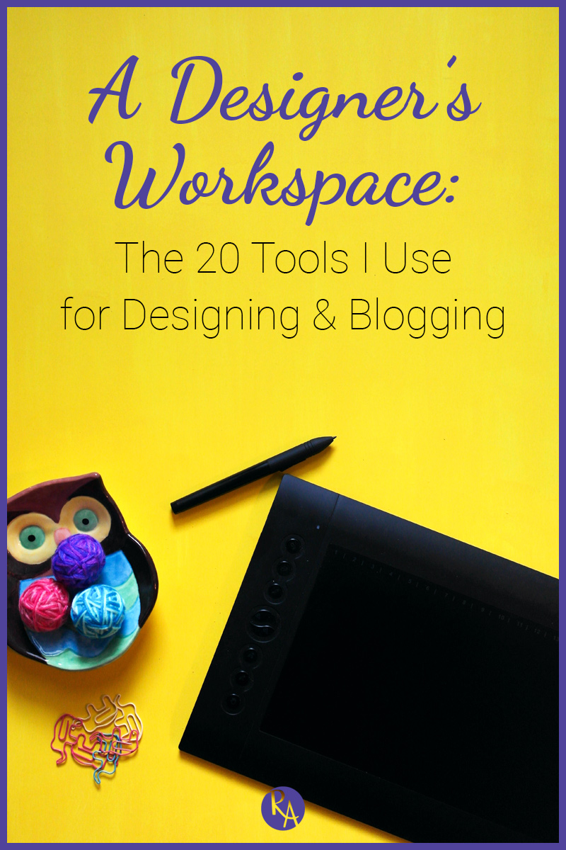 Your design process encompasses not only the style of work that you do but also the tools you use to do the work. Today I wanted to show you my workspace and talk about the tools I use on a daily basis to create my work and run my business.