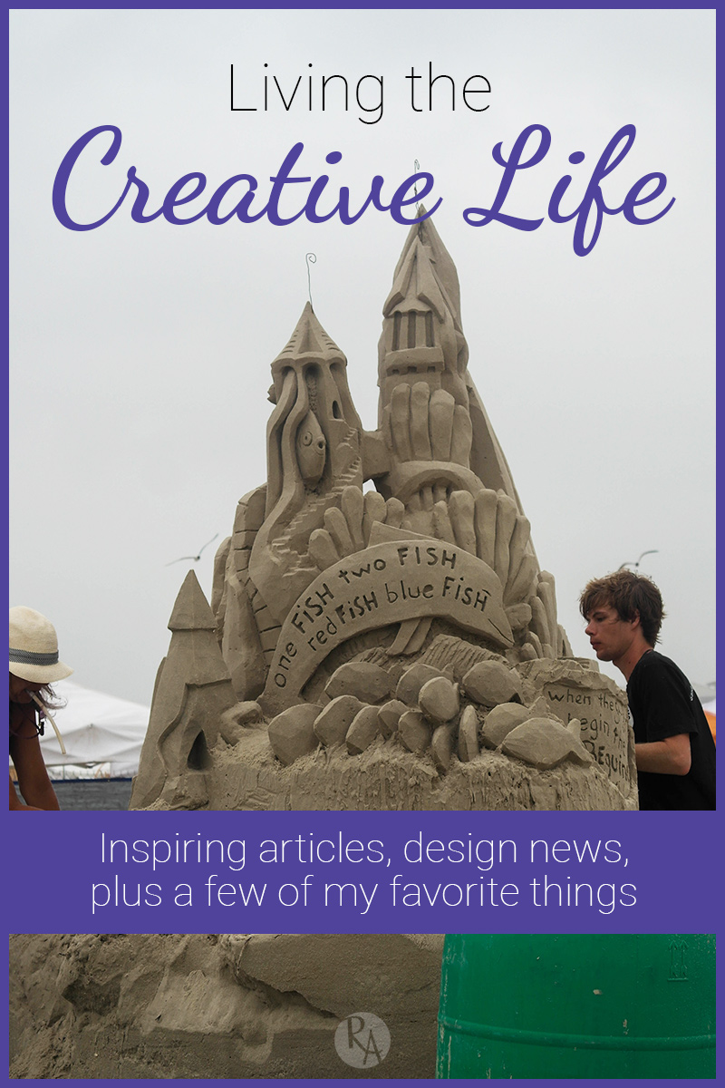 Before you head out on your weekend adventures, check out the inspiring articles I found plus a look at the cool sandcastles from Texas SandFest