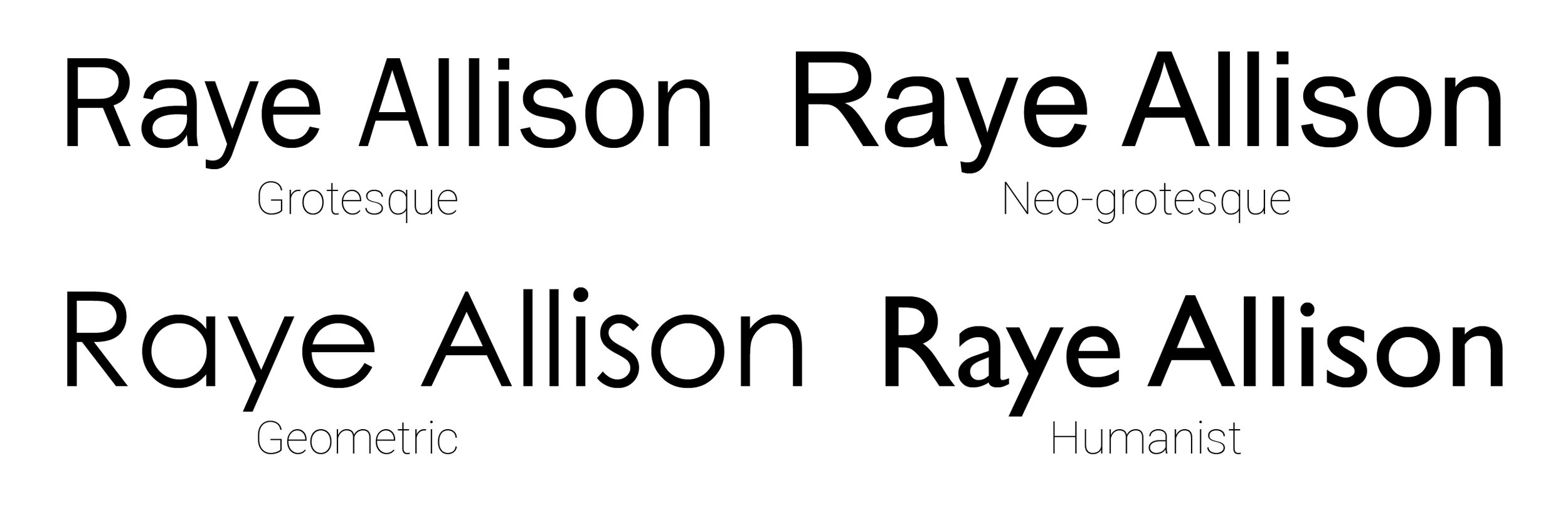 Sans serif typefaces are the typefaces without serifs.