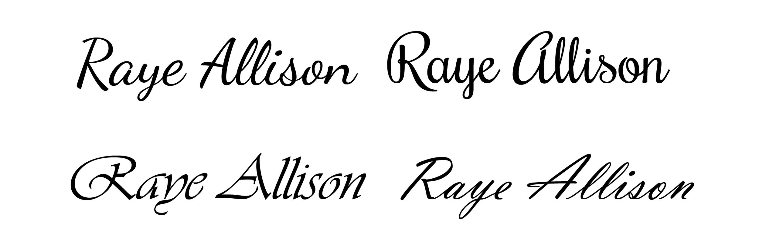 Script typefaces are based on a cursive or handwriting style.