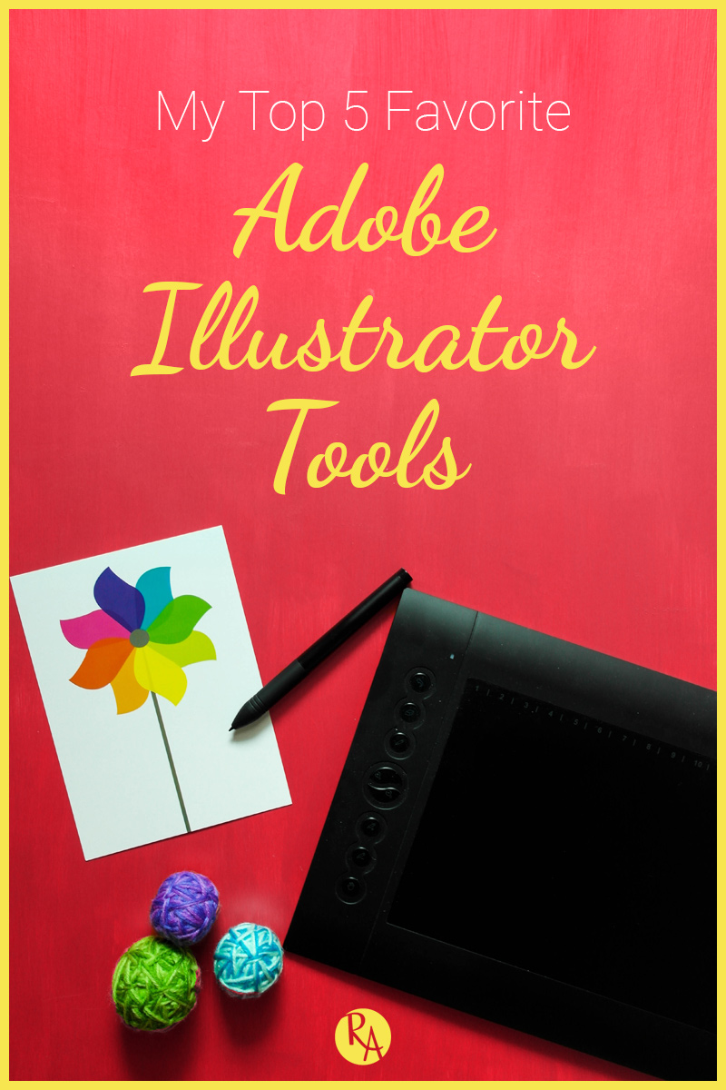 I wanted to dive into my design and lettering process a little and talk about my top 5 favorite Adobe Illustrator tools that I use for my projects.