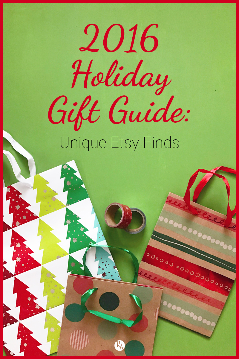 As we get into the Christmas season (hope everyone had a wonderful Thanksgiving!) I was super excited to share some sort of gift guide. As an Etsy seller, I decided to make this a unique Etsy find gift guide. So I have highlighted 10 different Etsy shops that have some awesome unique gifts for your loved ones.