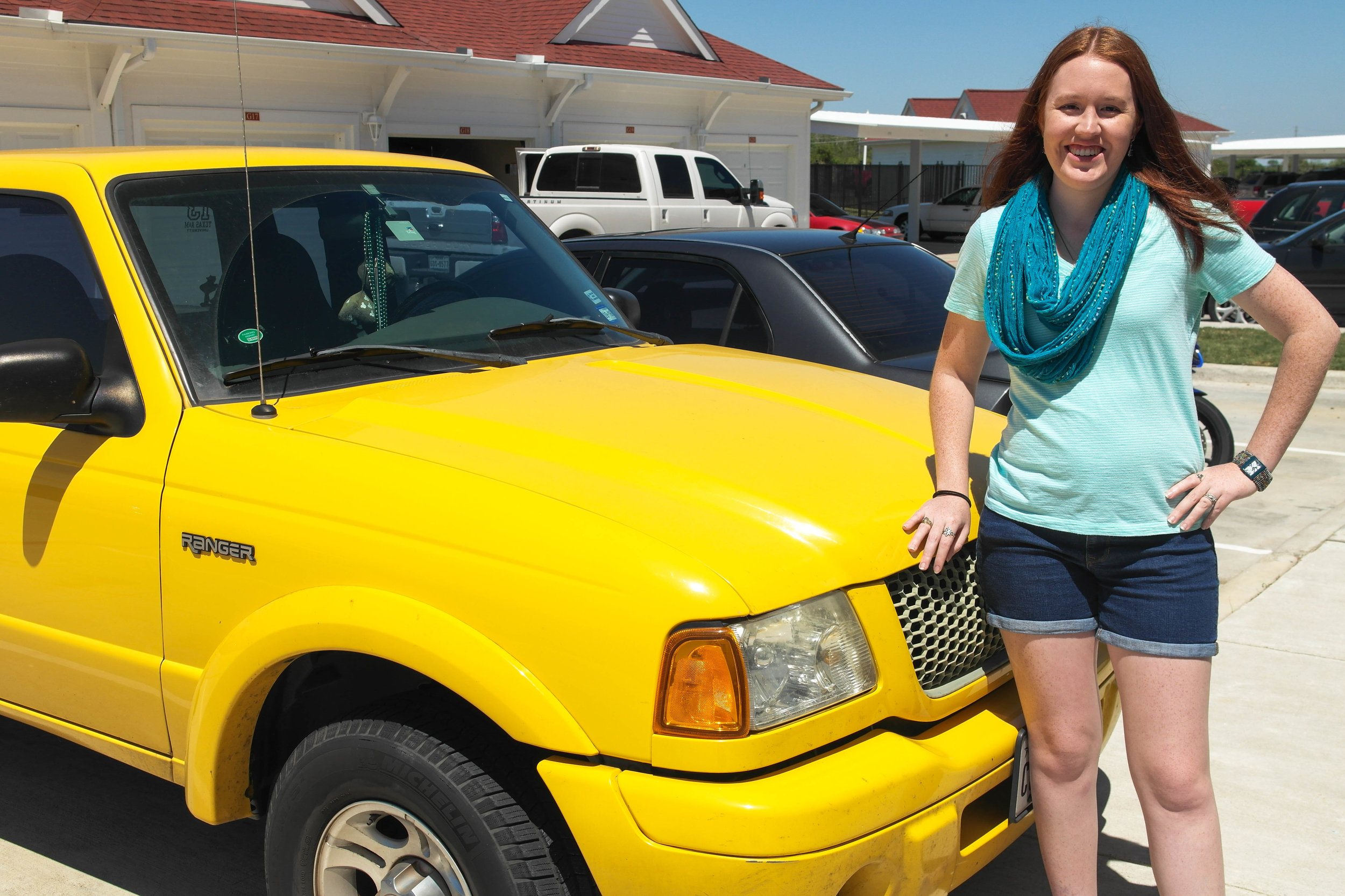 I drive a yellow truck