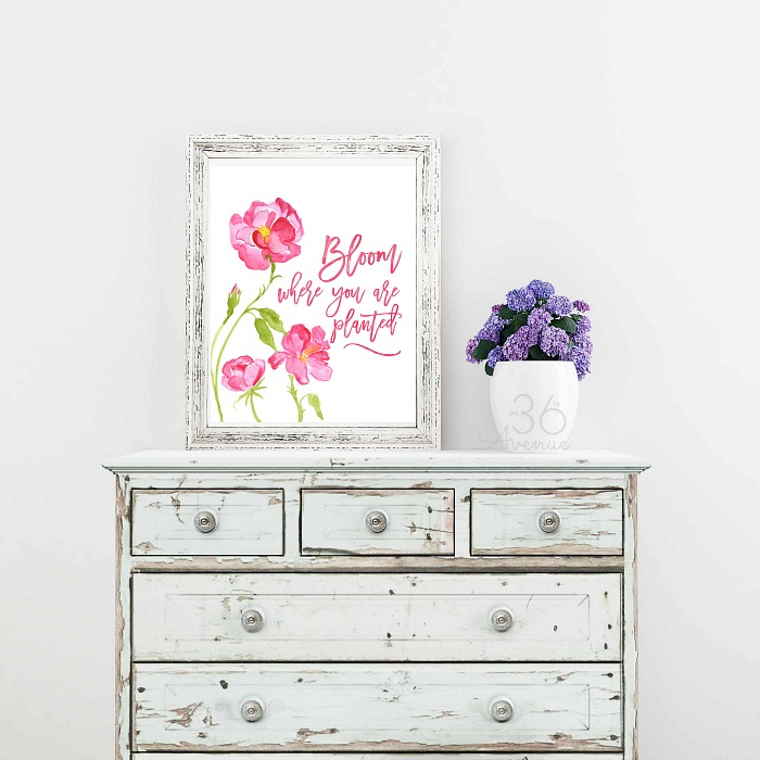 Spring printable from 36th Avenue