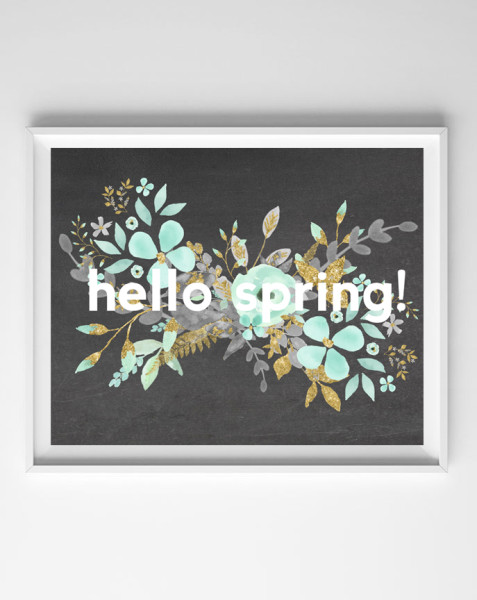 """""""Hello Spring"""" printable from Burlap & Blue"""