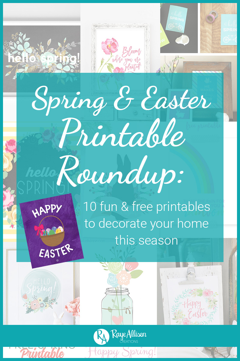 To help you decorate your home, I want to start sharing roundups of fun printables each season that you can print and frame at home. To kick off this series of roundups, I am starting with these 10 cute and colorful spring and Easter printables.