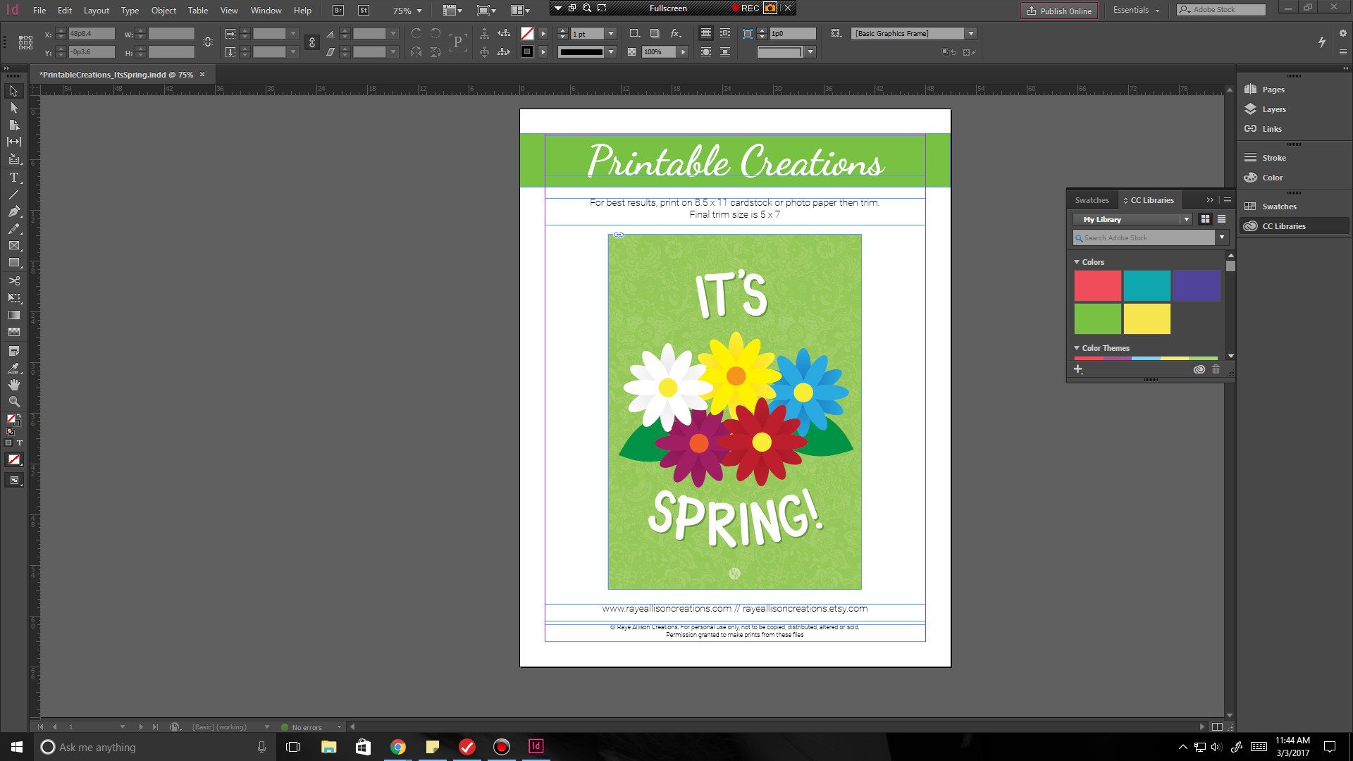 The process for creating my Printable Creations from start to finish!