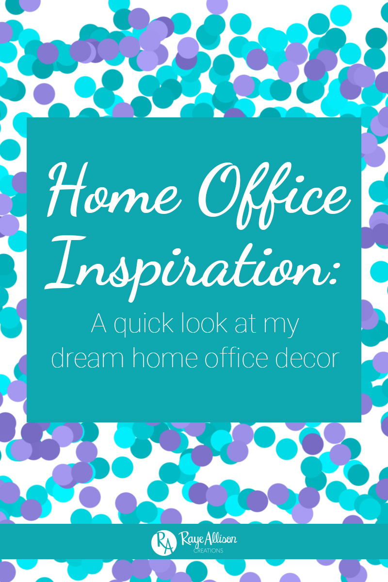 One of my favorite things to scroll through and pin on Pinterest is home decor and organization. So I am going to do a series on my blog with inspiration boards of ideas for different rooms in my future dream house. I will also be showing the current room on my apartment. Hope you find some inspiration from my home office board.