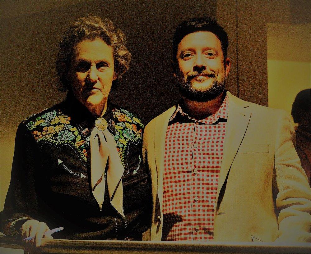 Open Door Founder David Stidger with Autism Advocate Temple Grandin