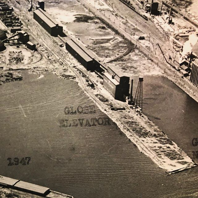Globe Grain Elevator, circa 1947  #wroughtiron #wroughtironwork #sculpture #industrialdesign #ironwork #blacksmith #blacksmithing #ironworker #forge #forged #forgedinfire #bladesmith #blade #hammer #hammersmith #industrial #reclaimedlumber #reclaimedwood