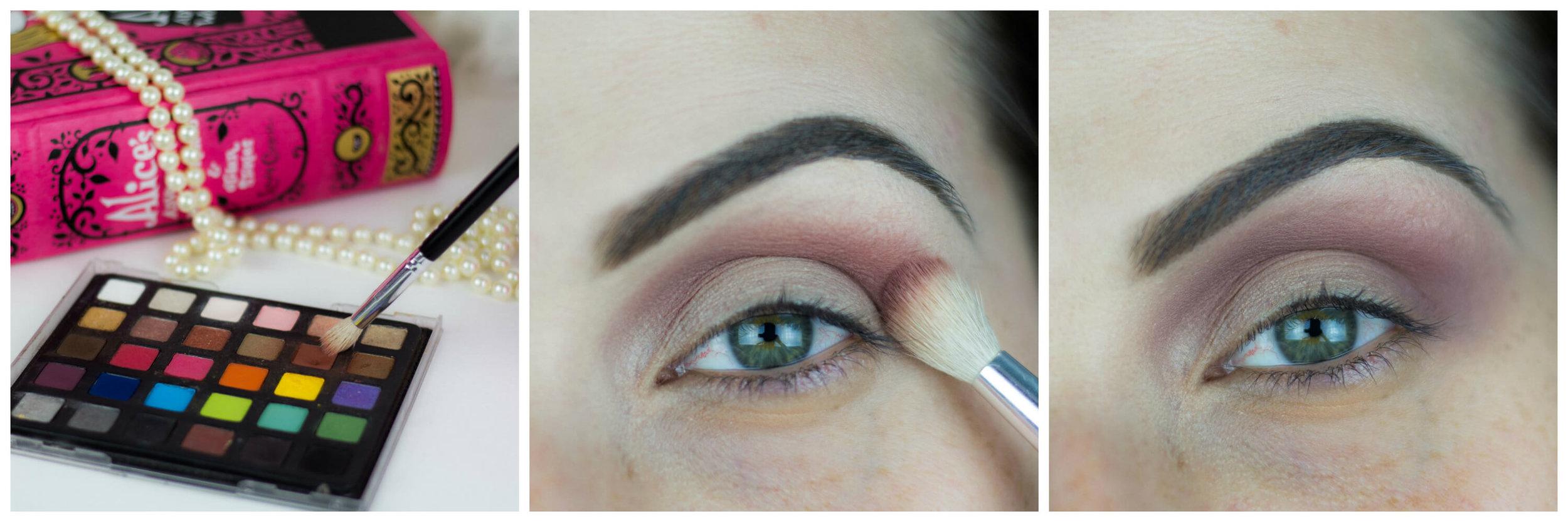 Maquiagem com glitter multicolorido