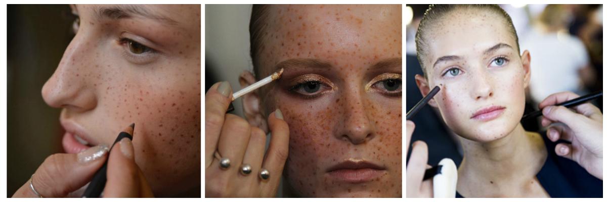 A tendência da maquiagem com sardas