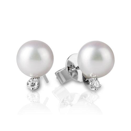 ee3de8badc93 Aretes en oro blanco con perlas — JQUIRÓS
