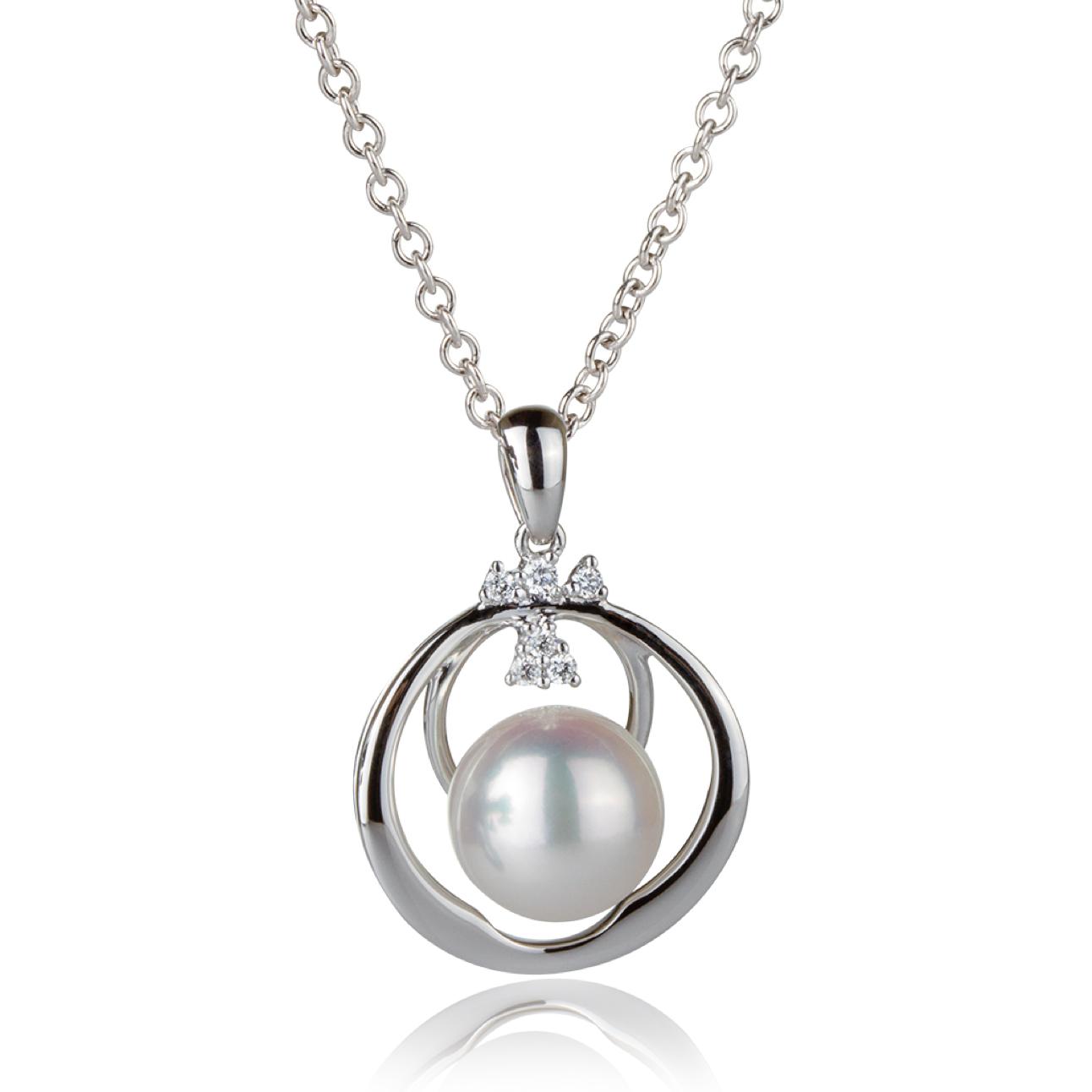1874722bf0f9 Dije en oro blanco con perla y brillantes — JQUIRÓS