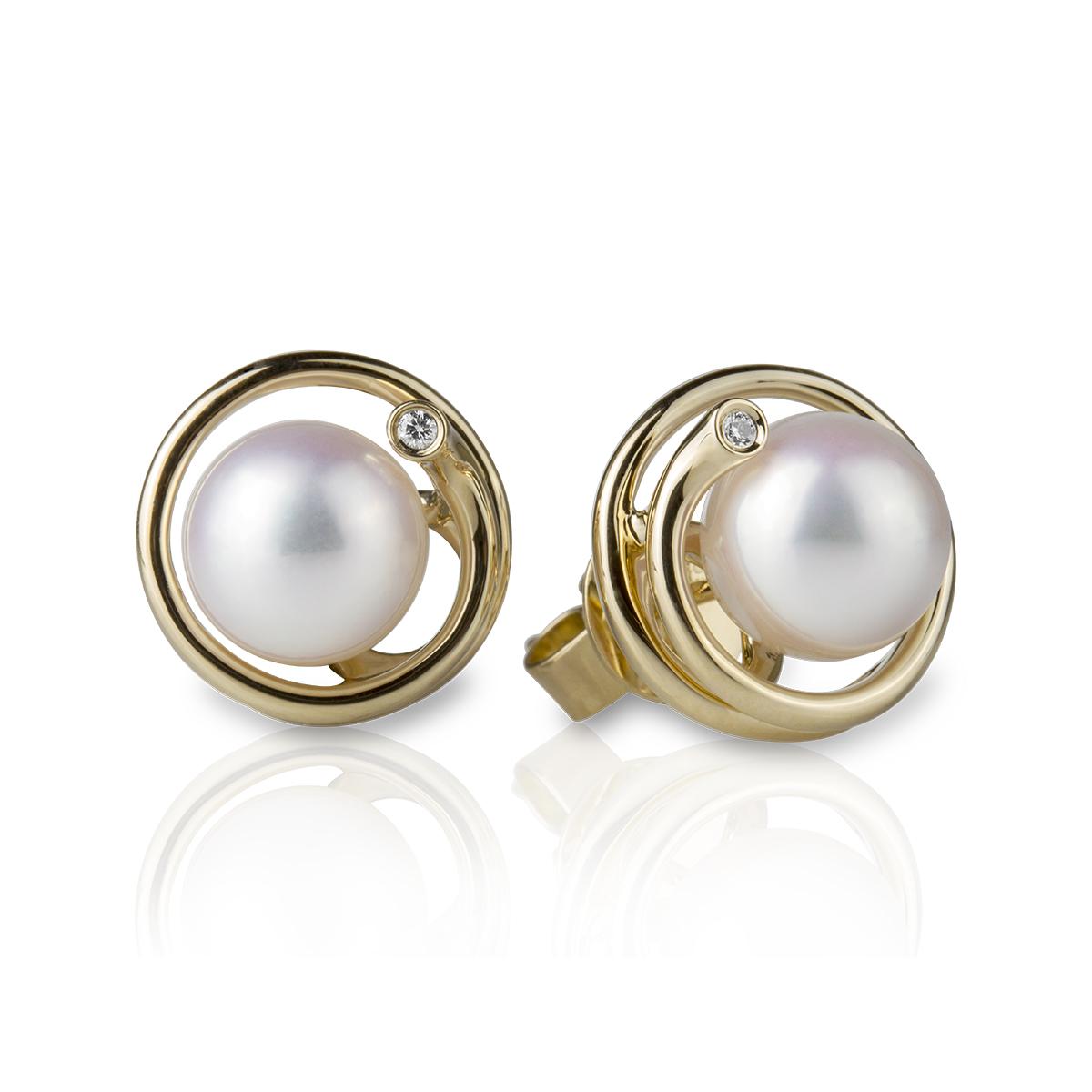 a699564f3390 Aretes en oro amarillo con perlas — JQUIRÓS