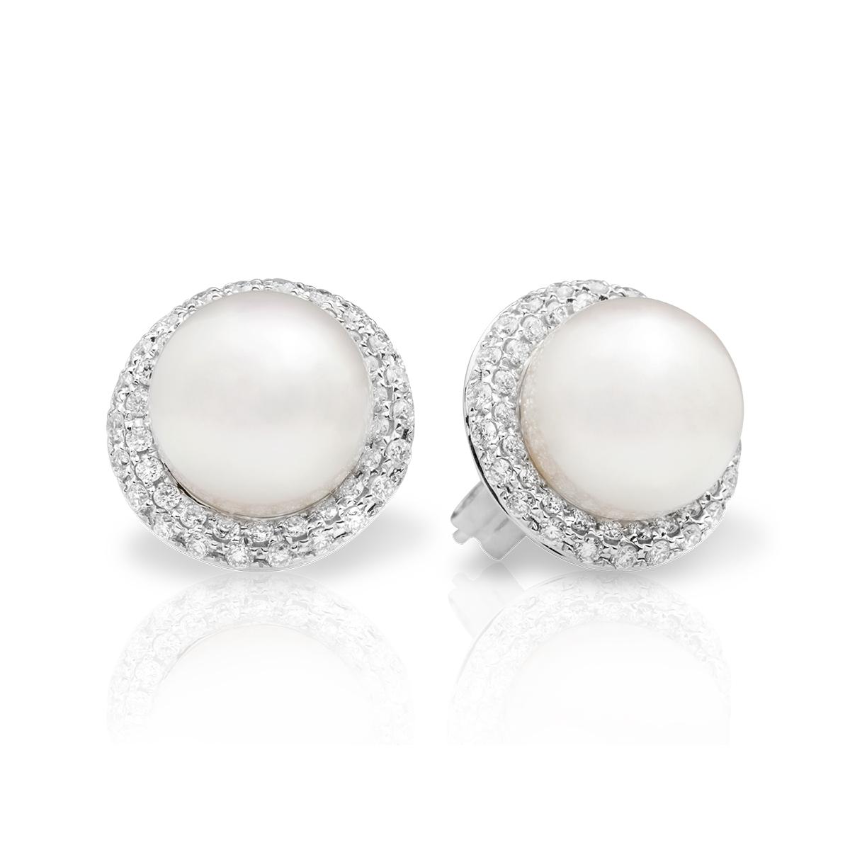 4da65fa8666e Aretes en oro con perlas y brillantes — JQUIRÓS