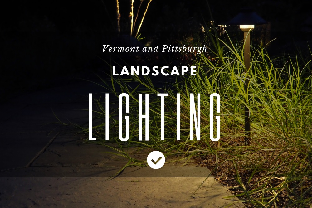 Landscape lighting in Pittsburgh, PA and Colchester, Vermont