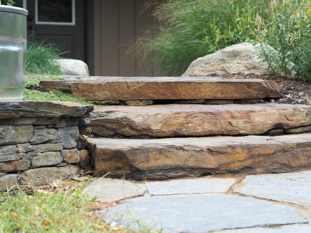 Patio and steps in Colchester, VT
