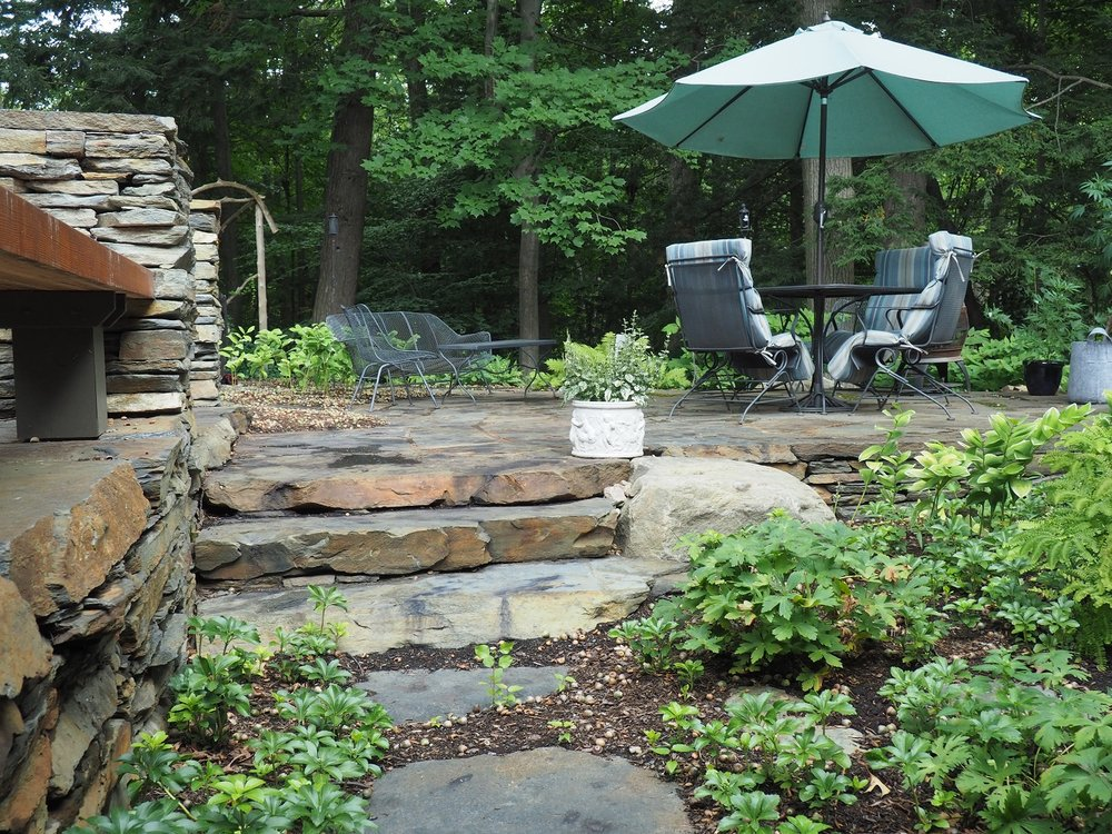 Colchester, VT patio made with natural stone