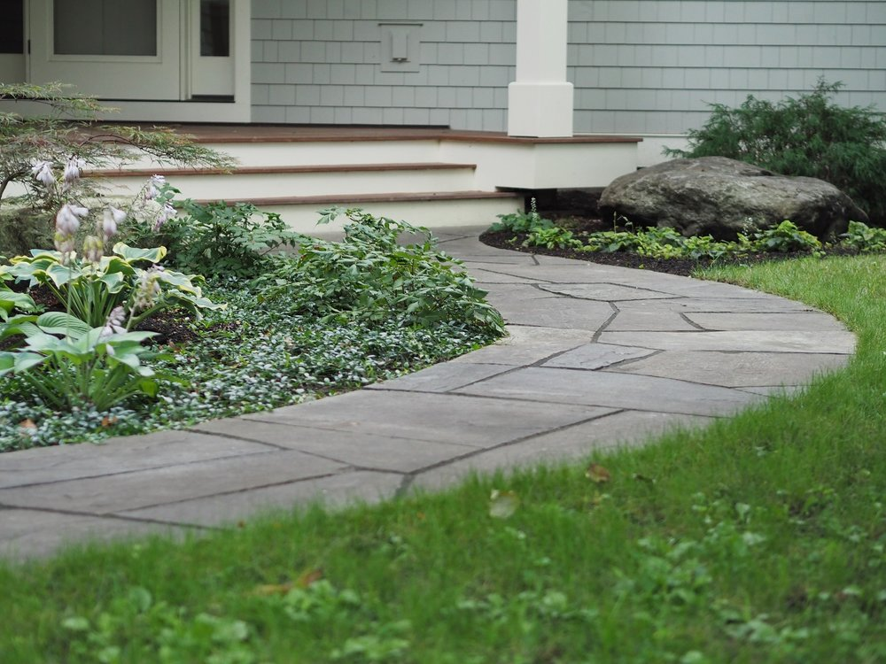 Flagstone walkway in Vermont