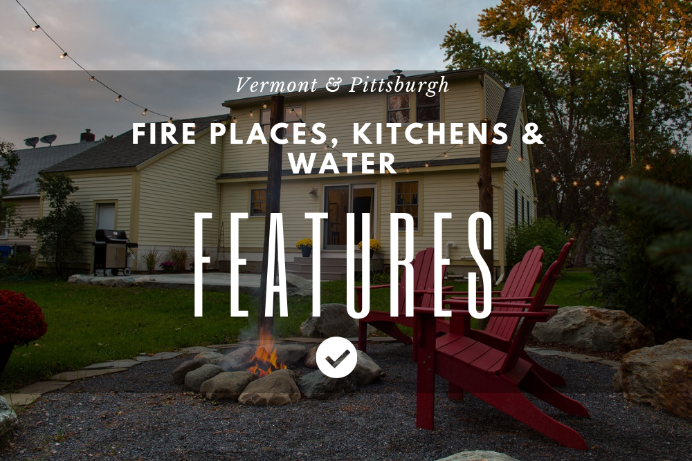 Fire places and water features in Pittsburgh, PA