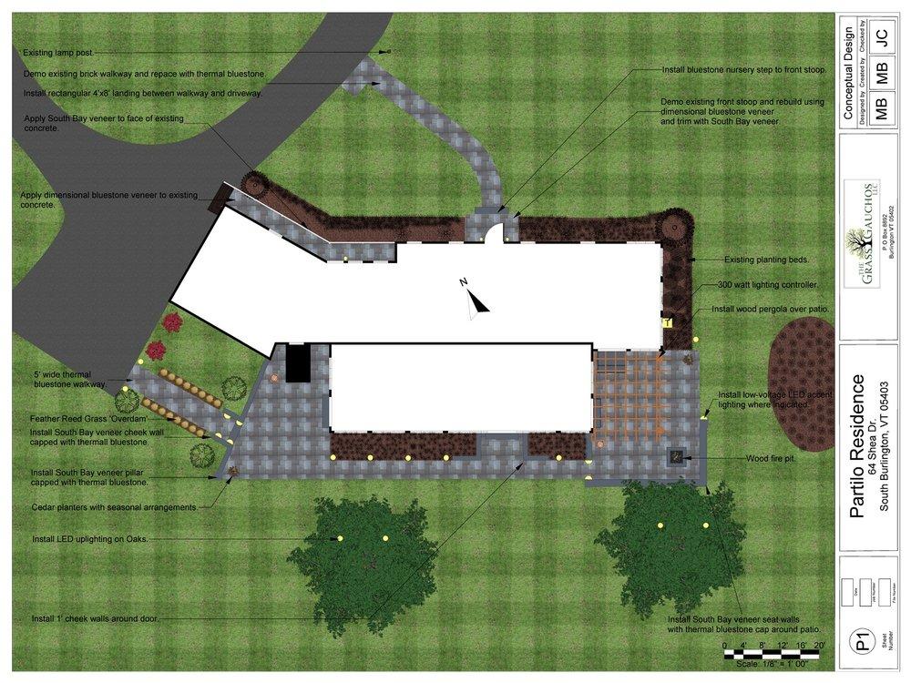 Stunning landscape design for outdoor living area in Colchester, VT