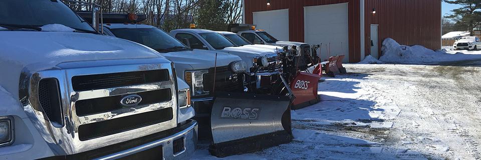 Vermont landscape maintenance, including snow removal service