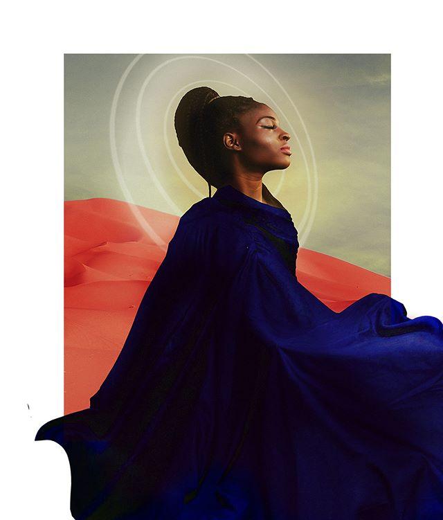 THE MIND'S EYE II w/Marian  Finding stilness in motion. #collageart #romeoshagba