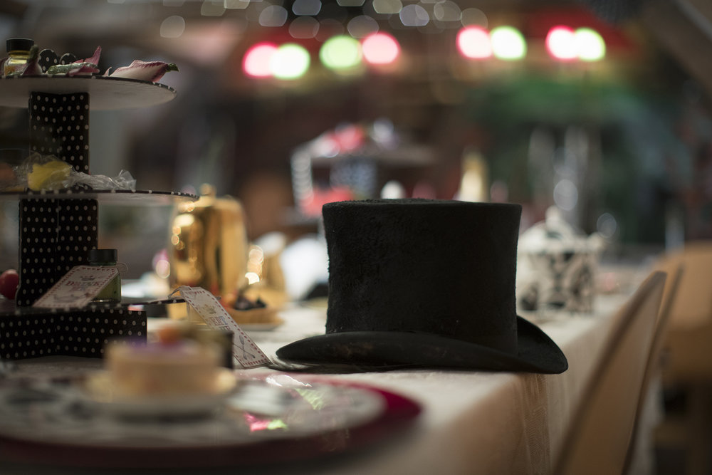 MAD HATTERS TEA PARTY - hire the props and have the tables dressed, then high tea, lunch or dinner catered by Bordello