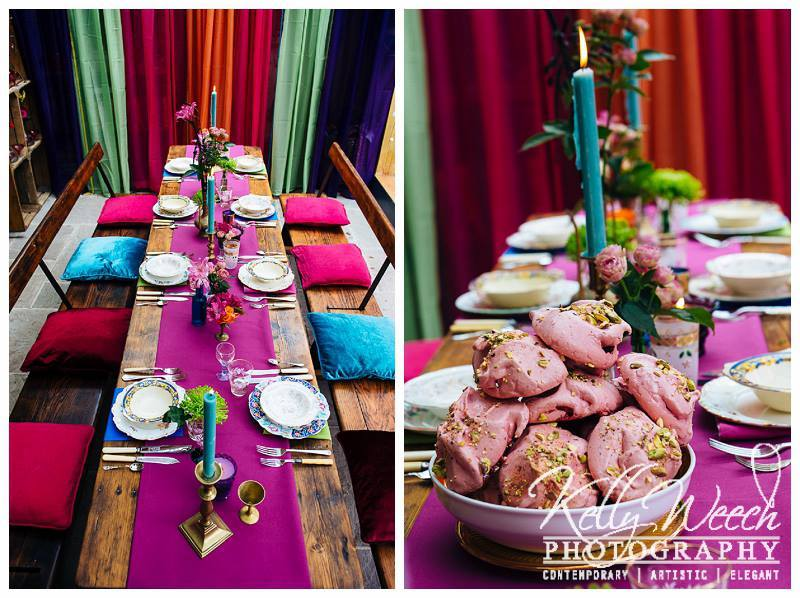 Moroccan cuisine - Bordello Banquets catering - locally produced, artisan food, stylishly displayed buffets and dinners, in a riot of colour, rich in taste.