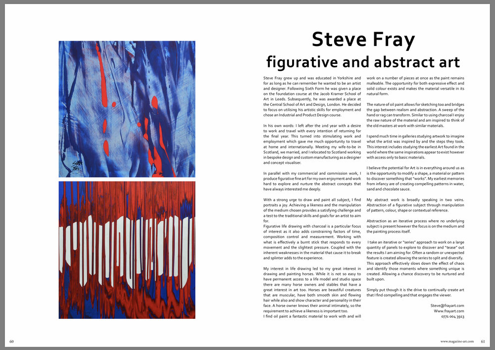 Pages 60 & 61.  Article introducing my work
