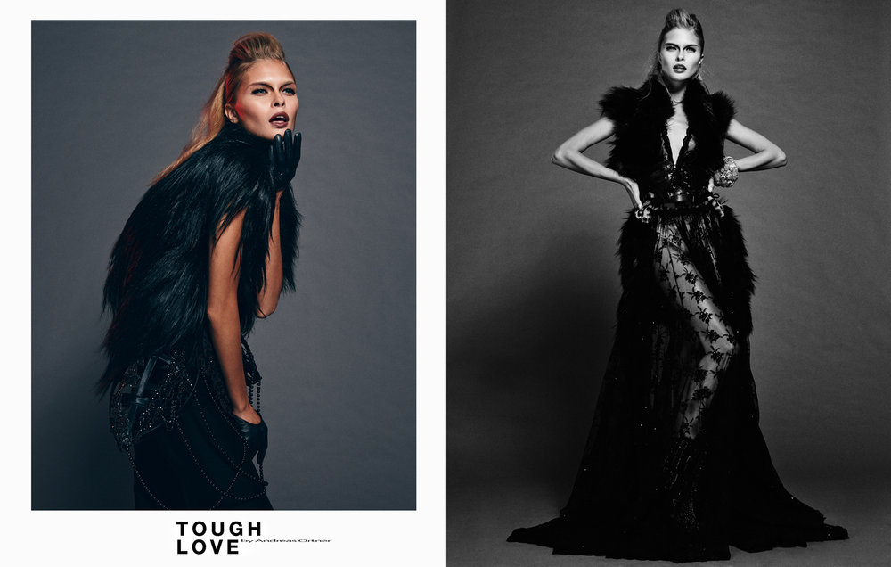 Andreas Ortner Tough love Quality  Magazine Luna Elisa Federowicz Visagistin  Hair-and Make up Artist