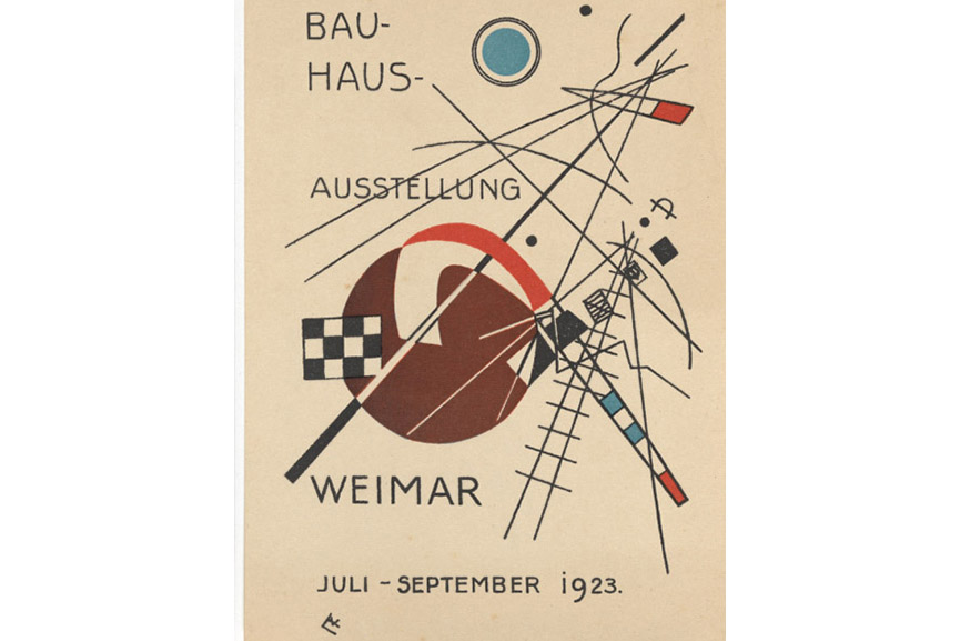 "Wassily Kandinsky - Postcard for ""Bauhaus Exhibition Weimar July - September 1923"" (1923)"