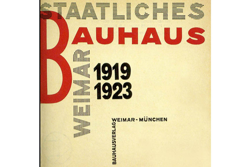 "László Moholy-Nagy's Title page of: ""Staatliches Bauhaus Weimar 1919-1923"" (1923)"
