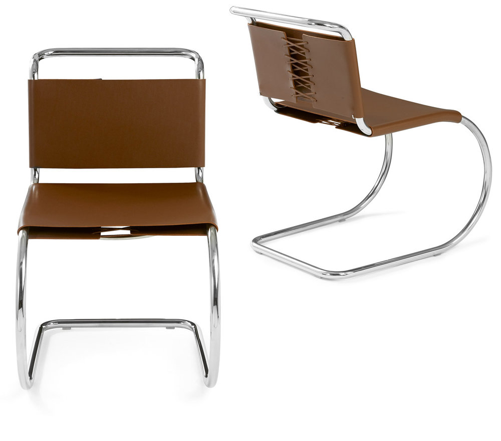 Mies van der Rohe designed the MR Side Chair in 1929.