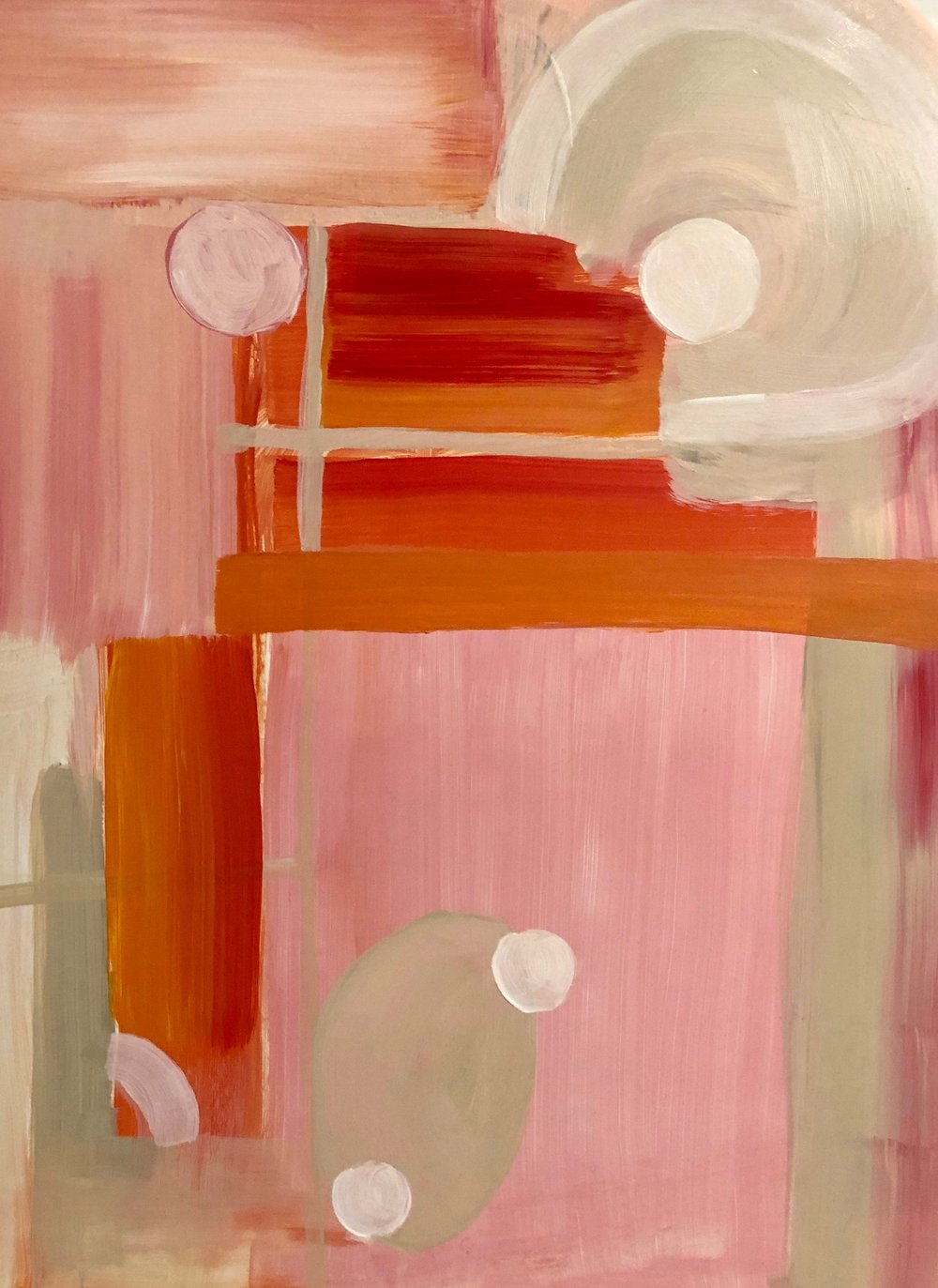 """Untitled, Acrylic on clay board, 18"""" x 25"""""""