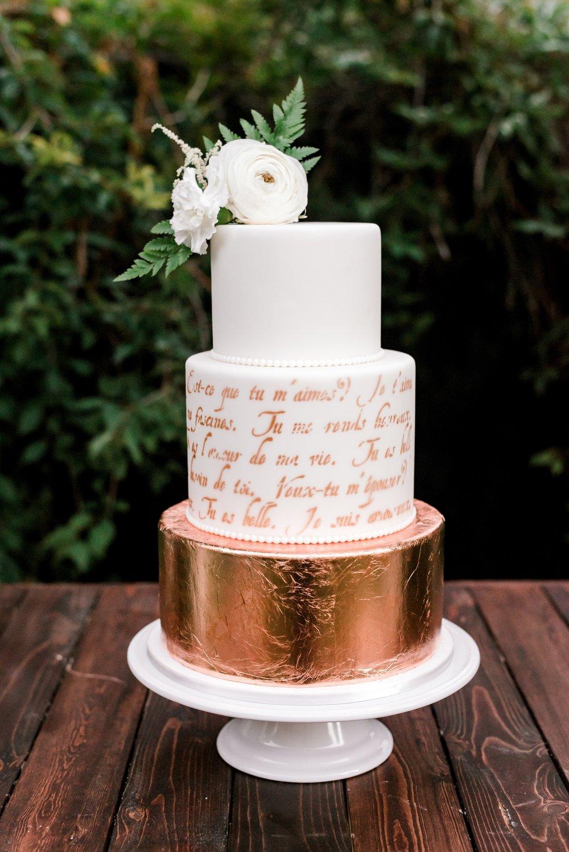 Metallic Wedding Cake | Utah Wedding Cakes