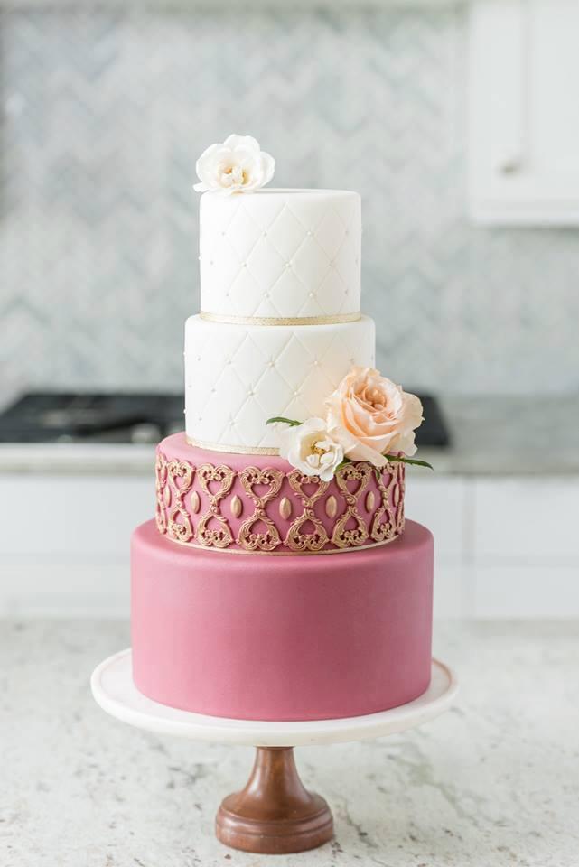 Pop of Pink | Utah Wedding Cake