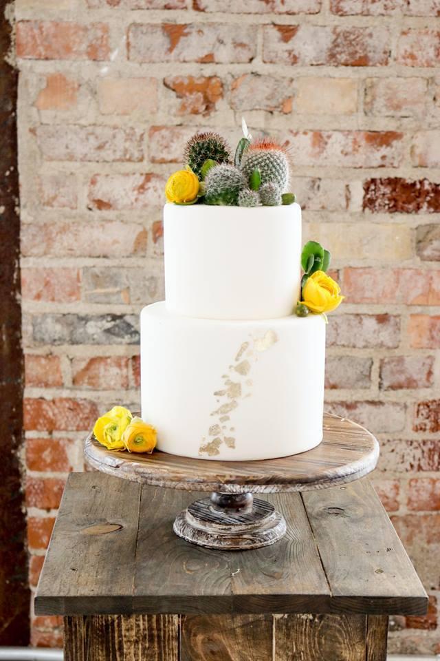 Boho Cactus Cake | Utah Wedding Cakes