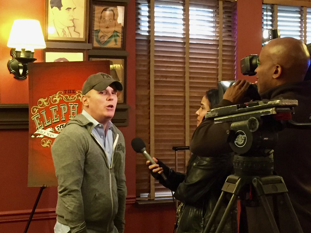 Director Scott Ellis at Sardi's Press event (photo by Scott Lowell)