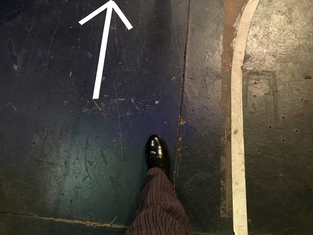 Scott's first step on a Broadway Stage (Booth Theatre 11/3/14)