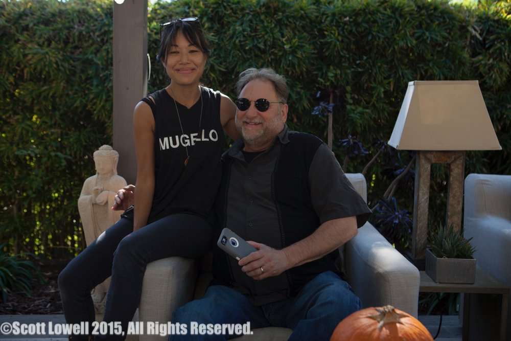 "11/13/15 Filming at ""Scott & Lisa's"" Home. Dueling D.P.'s L to R: Shirley Petchprapa (real D.P.), Ron Orbach (""Zolton"", fake D.P.)"
