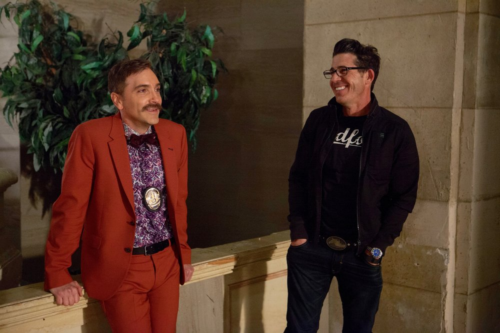 1/16/16 Cops & Bottoms Opening Credits. L to R: Scott Lowell, Monty Miranda (Dir.)